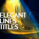 Elegant Lines Titles - VideoHive Item for Sale