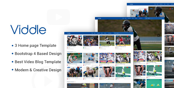Download Viddle – Multipurpose Video Blog HTML5 Site Template Nulled