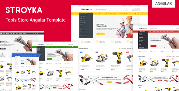 Stroyka - Tools Store Angular 9 eCommerce Template