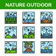 Nature Landscape - Filled Line - GraphicRiver Item for Sale
