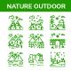 Nature Landscape - Line Icon Set - GraphicRiver Item for Sale