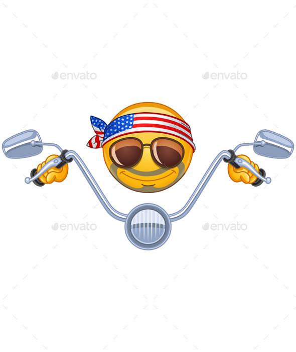 Biker Emoticon