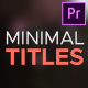 Minimal Titles and Lower Thirds - VideoHive Item for Sale