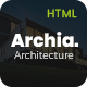 Archia - Architecture and Interior Design RTL Ready Template - ThemeForest Item for Sale