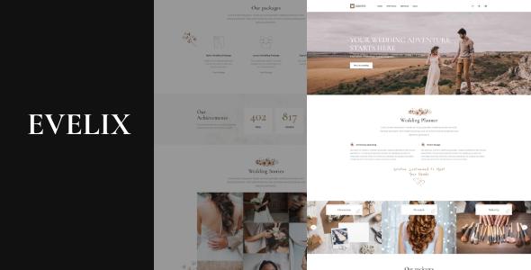 Evelix - Wedding Agency WordPress Theme