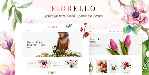 Fiorello - Florist and Flower Shop Theme