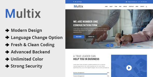 Multix - Multipurpose Website CMS with Codeigniter Download