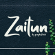 Zaitun | A Nature Branding Font - GraphicRiver Item for Sale