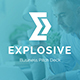 Explosive Business Pitch Deck Powerpoint Template - GraphicRiver Item for Sale