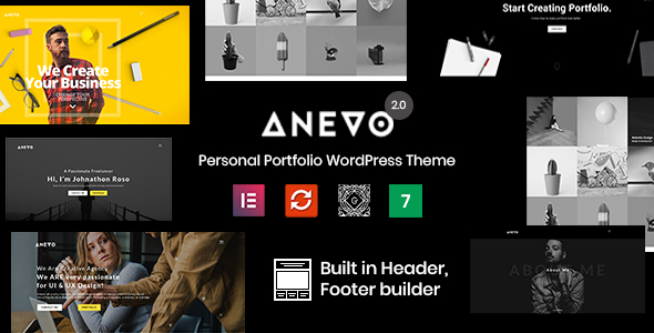 Anevo - Personal Portfolio WordPress Theme