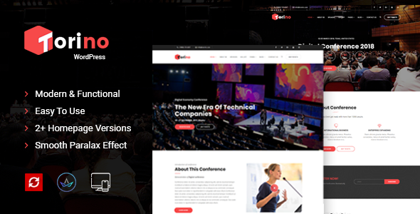 Torino - Event WordPress Theme