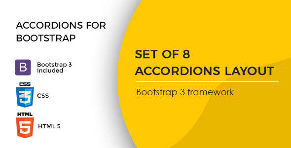 Accordions for Bootstrap 3 Framework
