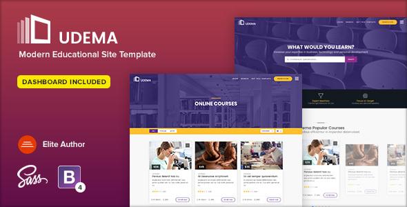 Udema - szablon strony edukacyjnej