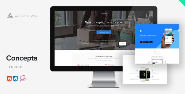Concepta - SaaS, Software, WebApp & Services Template