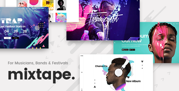 Mixtape - Music Theme for Artists & Festivals