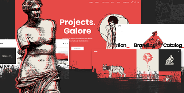 Haar - Portfolio Theme for Designers, Artists and Illustrators