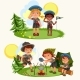 Cartoon Happy Children Having Fun Together - GraphicRiver Item for Sale