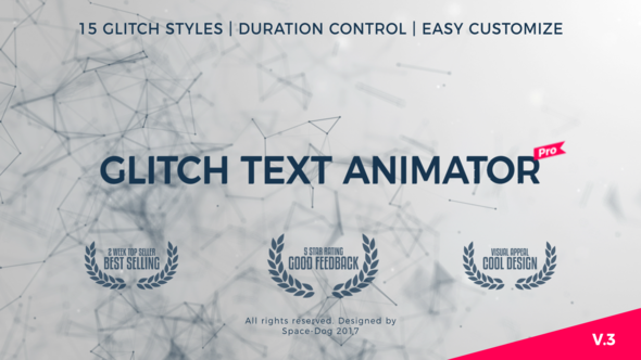 Glitch Text Animator PRO