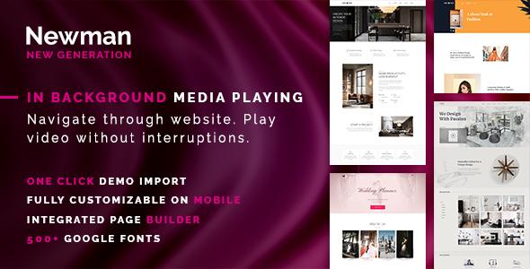 Newman - Portfolio, Video and Blog WordPress Theme