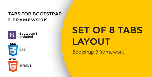 Tabs for Bootstrap 3 Framework