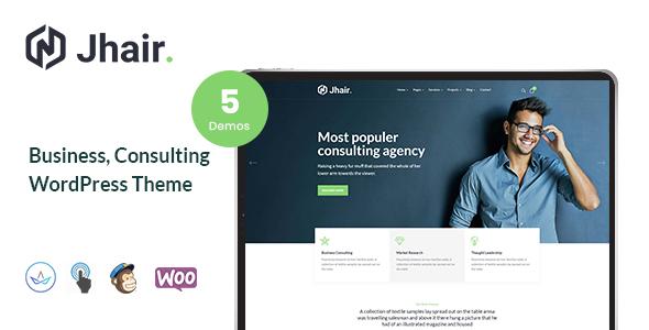 Jhair – Business, Consulting WordPress Theme