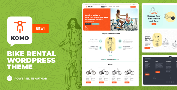 Komo - Bike Rental Shop WordPress