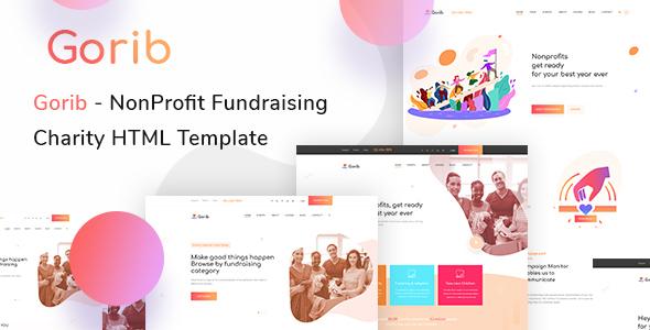 Gorib - Fundraising & Chairty HTML Template