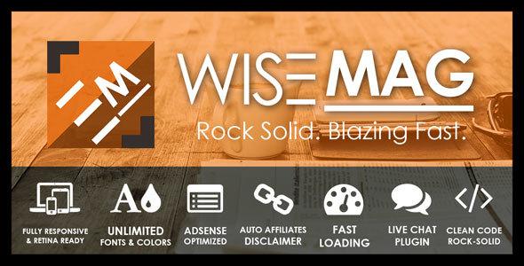 Wise Mag – The Wisest AD Optimized Magazine Blog WordPress Theme