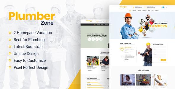 Plumber Zone - Plumbing, Repair & Construction WordPress Theme