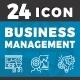Elegant 24 Business Management icon - GraphicRiver Item for Sale