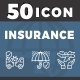 50 Insurance Icon - GraphicRiver Item for Sale
