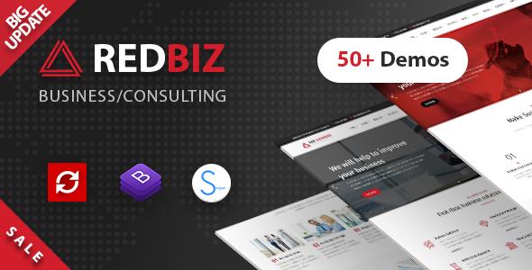 RedBiz - szablon uniwersalny dla firm i konsultantów