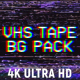 VHS Tape Noise Background Pack 4K - VideoHive Item for Sale