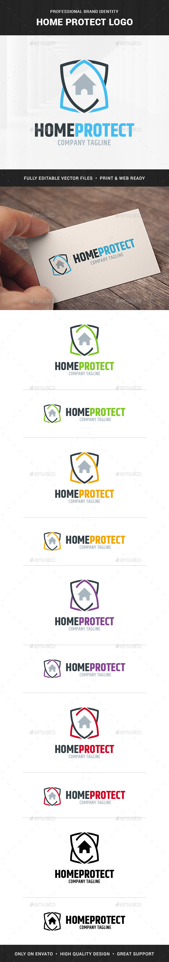 Home Protect Logo Template