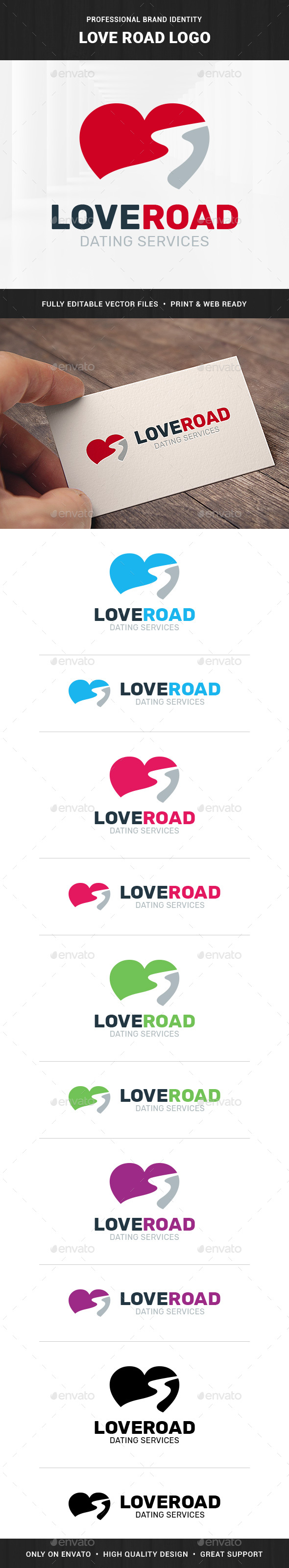 Love Road Logo Template