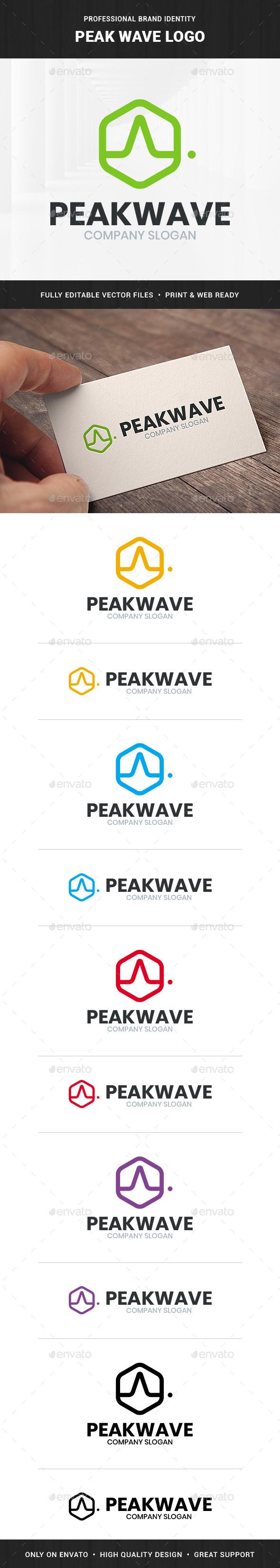 Peak Wave Logo Template