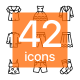 42 Clothes, Fashion, Accessories and Wear Icons Set - GraphicRiver Item for Sale