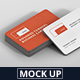 Business Card Mockup Stack Round Corners - GraphicRiver Item for Sale