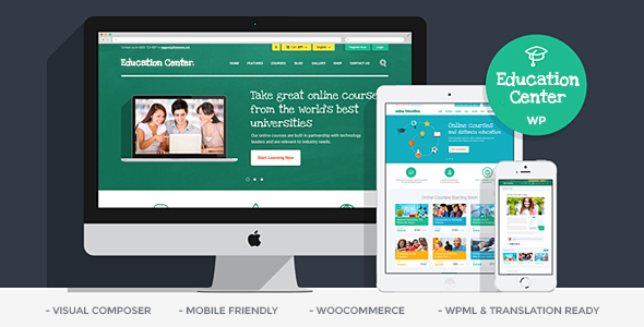Download Education Center | Training Courses WordPress Theme nulled 01 Education