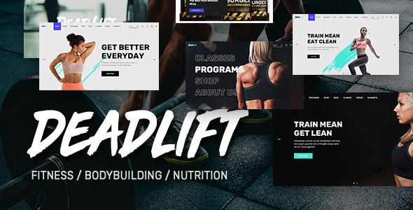 Deadlift - Fitnesss and Bodybuilding WordPress Theme