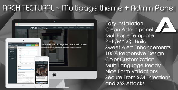ARCHITECTURAL ~ Multipage theme + Admin Panel