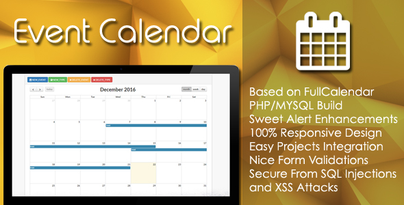 PHP Calendar Code & Scripts from CodeCanyon