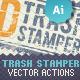 2D Trash Stamper - Vector Actions Pack - GraphicRiver Item for Sale