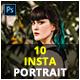 10 Insta Portrait Photoshop Actions - GraphicRiver Item for Sale