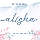 Alisha - Sweet Calligraphy Font - GraphicRiver Item for Sale