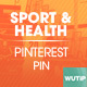 10 Pinterest Pin Banner - Sport and Health - GraphicRiver Item for Sale