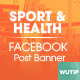 20 Facebook Post Banner - Sport and Health - GraphicRiver Item for Sale