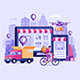 Online Delivery Service Illustration - GraphicRiver Item for Sale