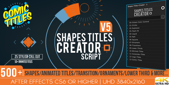 Shapes Titles Creator