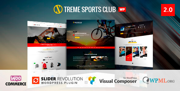 Xtreme Sports  - WordPress Theme